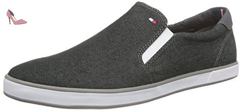 Tommy Hilfiger H2285ARLOW 2F, Mocassins homme, Gris (BLACK DENIM 070), 45 - Chaussures tommy hilfiger (*Partner-Link)