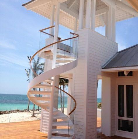Diseños de escalera en espiral o caracol de metal y madera Fotos - Diseo De Escaleras Interiores