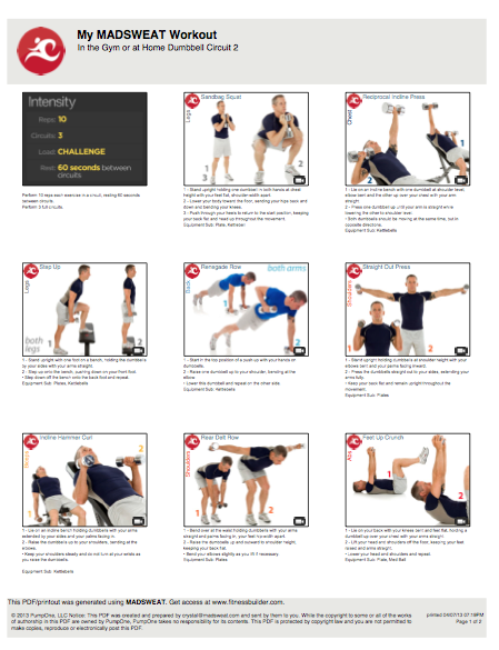 Dumbbell workout | Work outs | Workout, Weight Loss, Wrestling workout
