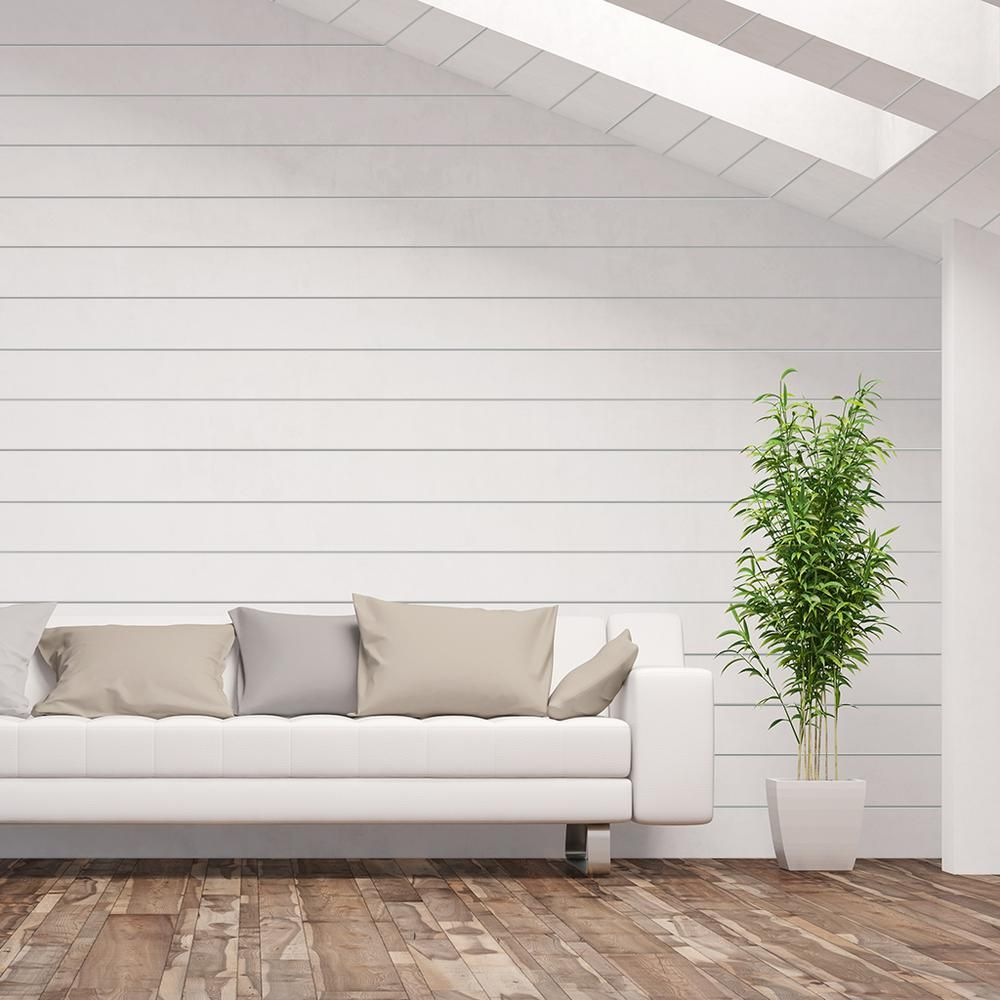 Kimberly Bay 3 4 In X 5 1 2 In X 8 Ft Primed Wood Nickel Gap Ship Lap Siding And Wall Panel 6 Pieces P In 2020 White Shiplap Wall Shiplap Wall Diy Wood Panel Walls