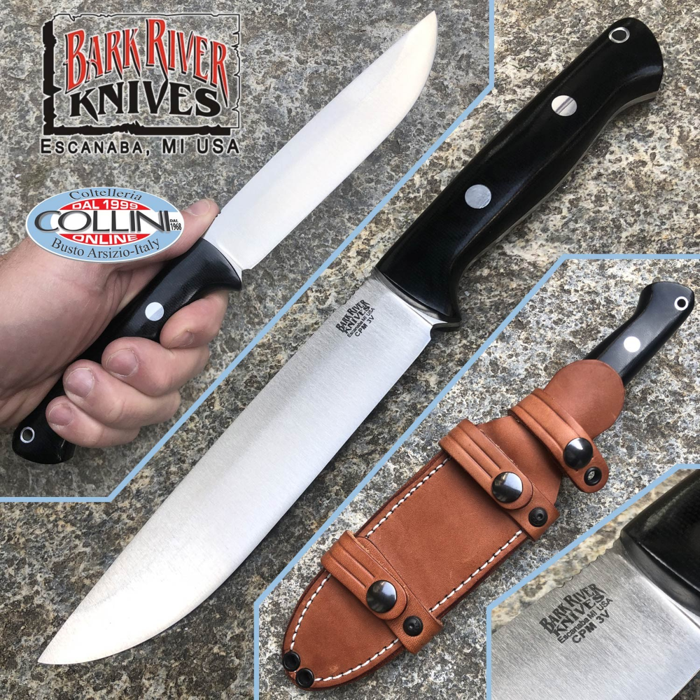river kitchen knives bark river bravo 1 5 field knife cpm 3v black canvas