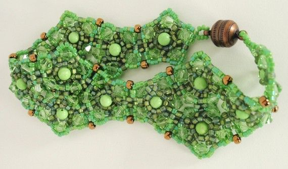 Spring Green Bracelet by njdesigns1 on Etsy, $50.00