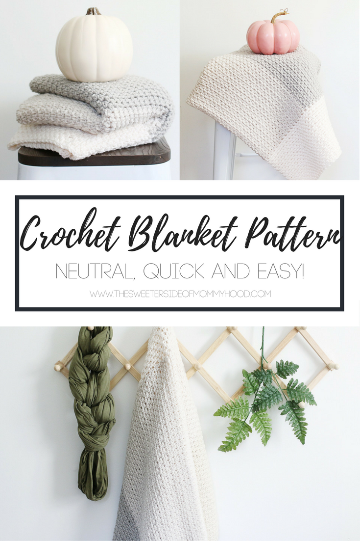 Neutral Color Block Crochet Blanket Pattern | Knits | Pinterest ...