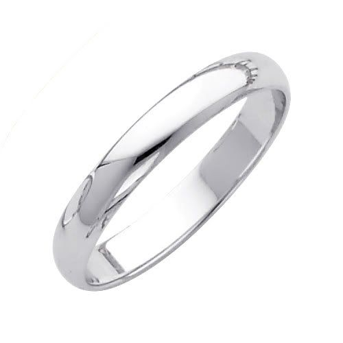 Amazon Com 14k White Gold 3mm Plain Wedding Band Ring For Men Women Size 4 To 12 The World Jewelry Cente Rings For Men Wedding Ring Bands White Gold Band