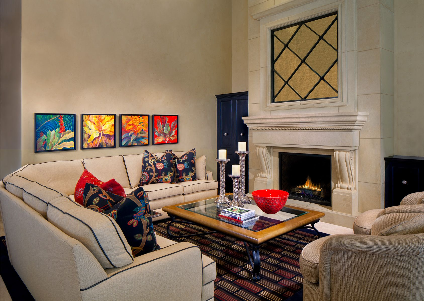 A Private Residence Living Room By Swanson Interior Design Group