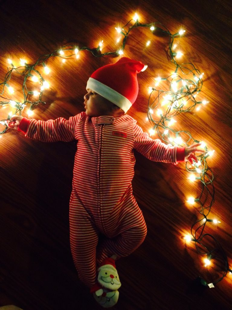 All of the lights. Bryce's 1st Christmas