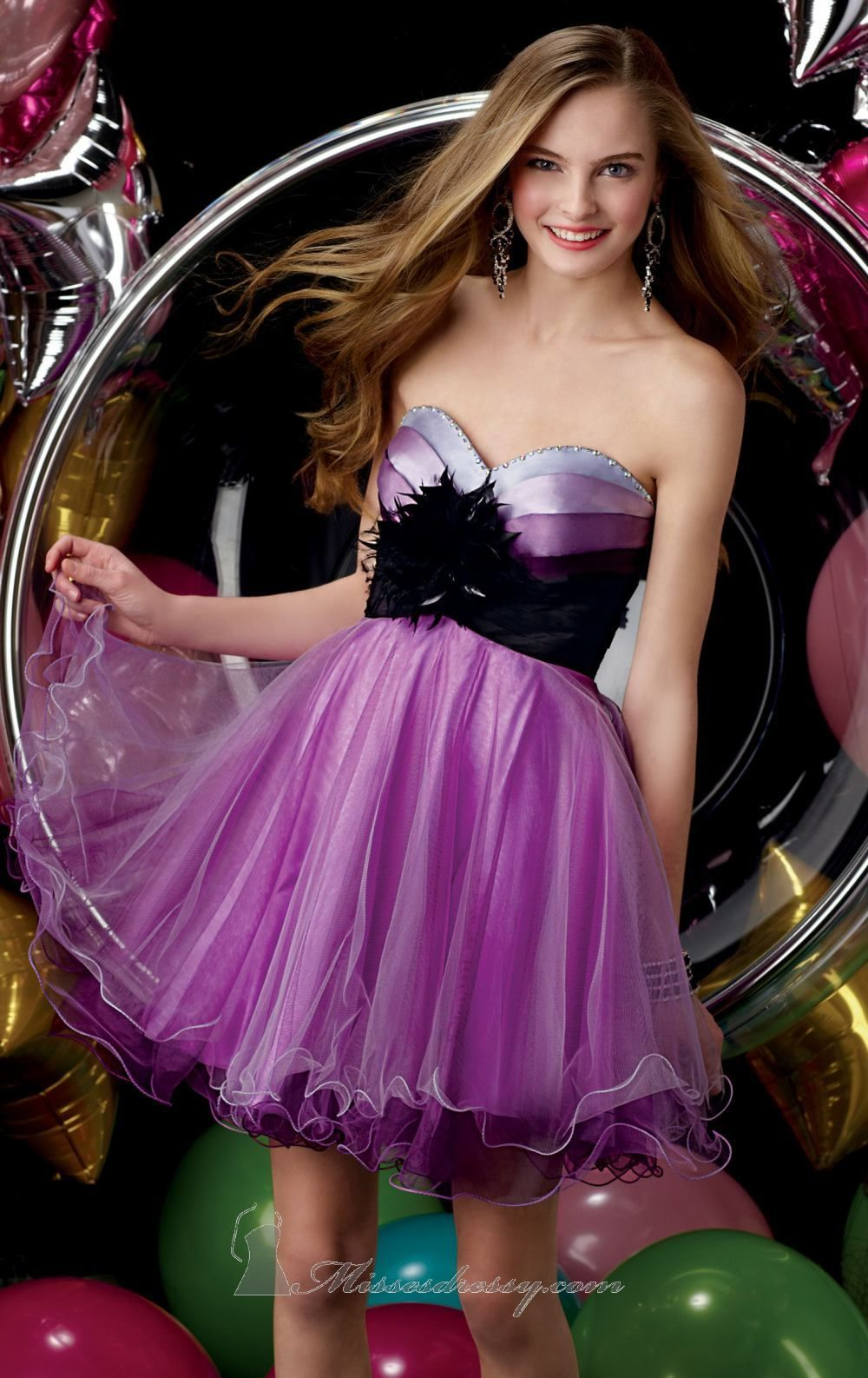 Strapless Tulle Dress by Alyce Sweet 16