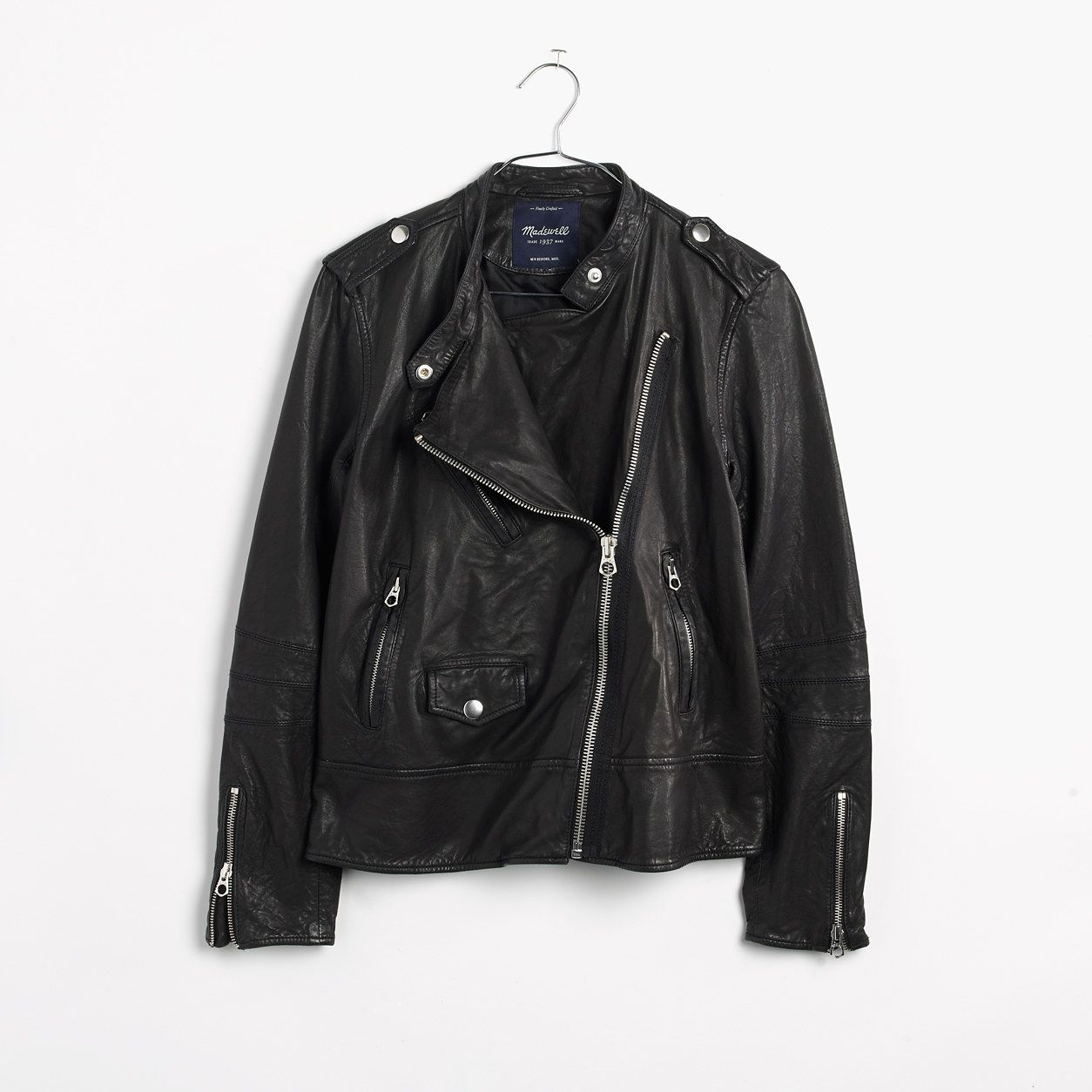 Madewell Womens Washed Leather Swing Jacket Jackets