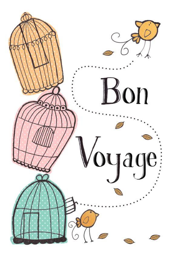 Bon Voyage Bird Card