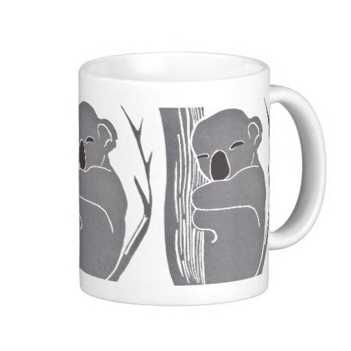 Sleeping Koalas Mug; Abigail Davidson Art; ArtisanAbigail at Zazzle