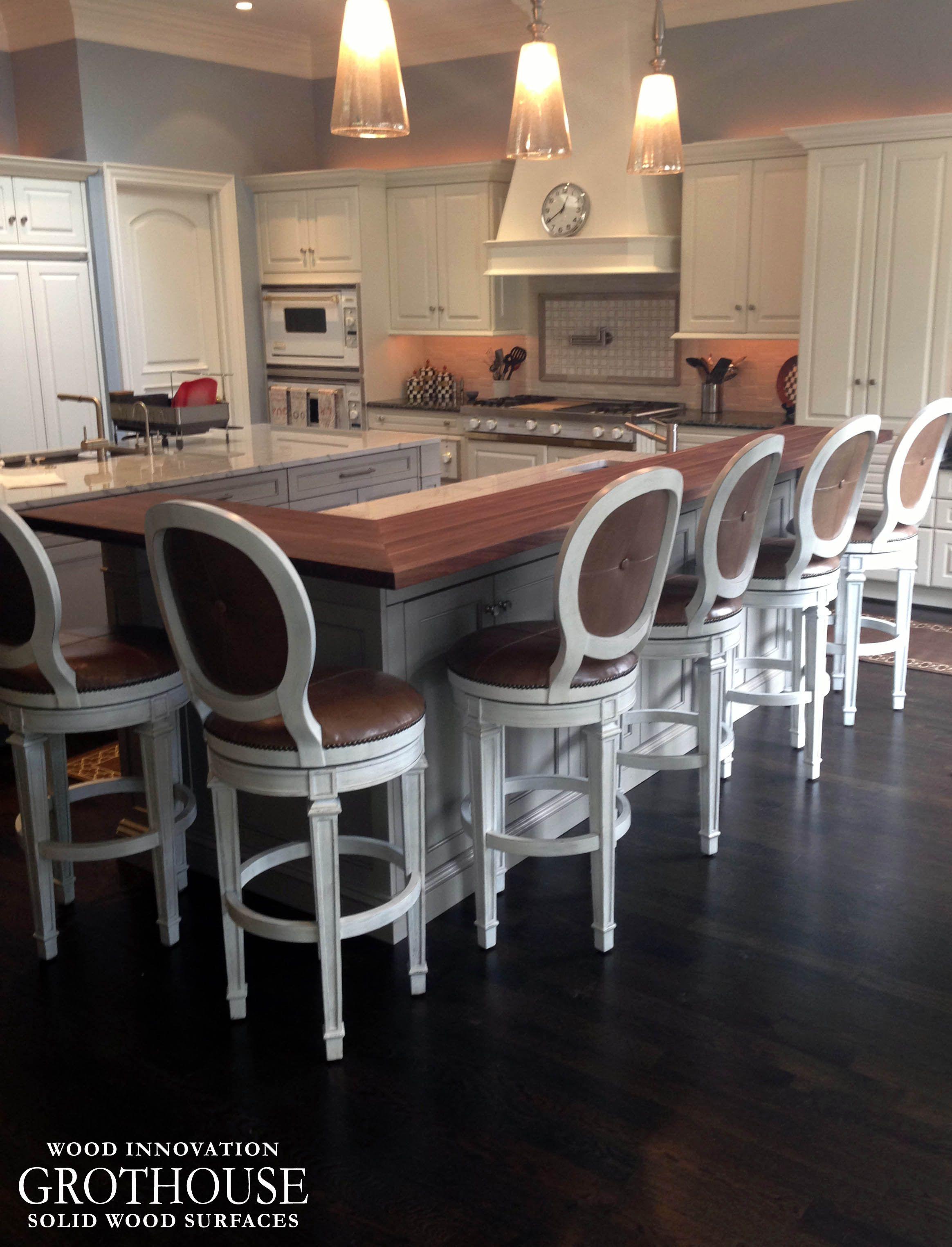 Kitchen Island Bar Ideas wood countertopumber kitchen