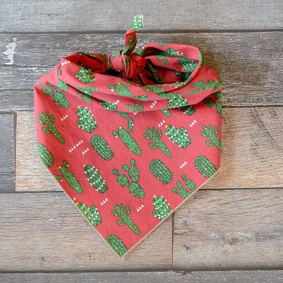 f4d8abdcd Christmas Dog Bandana Christmas Bandana Red Christmas Cactus ...