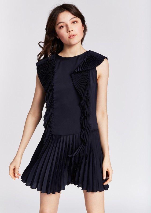 Navy flapper cocktail dress femme - tara jarmon 1 | Fashion ...