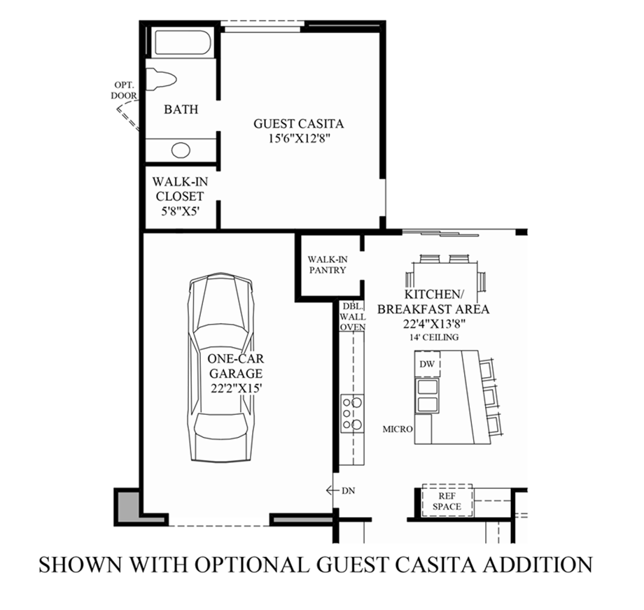 toll brothers minorca optional guest casita house ideas