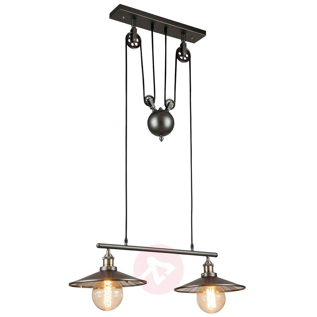 Lampa Wisząca Arkita W Czerni 2 Punktowa Lampy Wiszące In