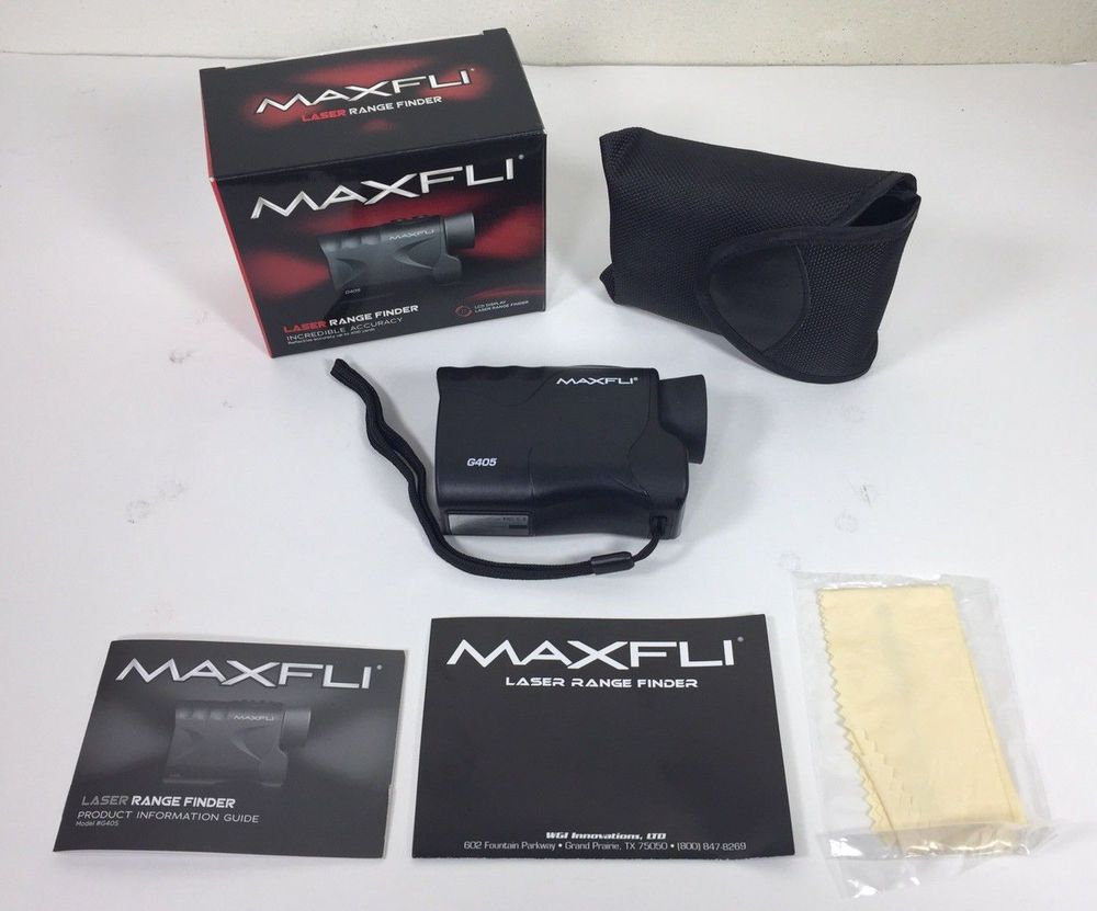 MAXFLI G405 GOLF LASER RANGEFINDER In Box + Manual #MAXFLI