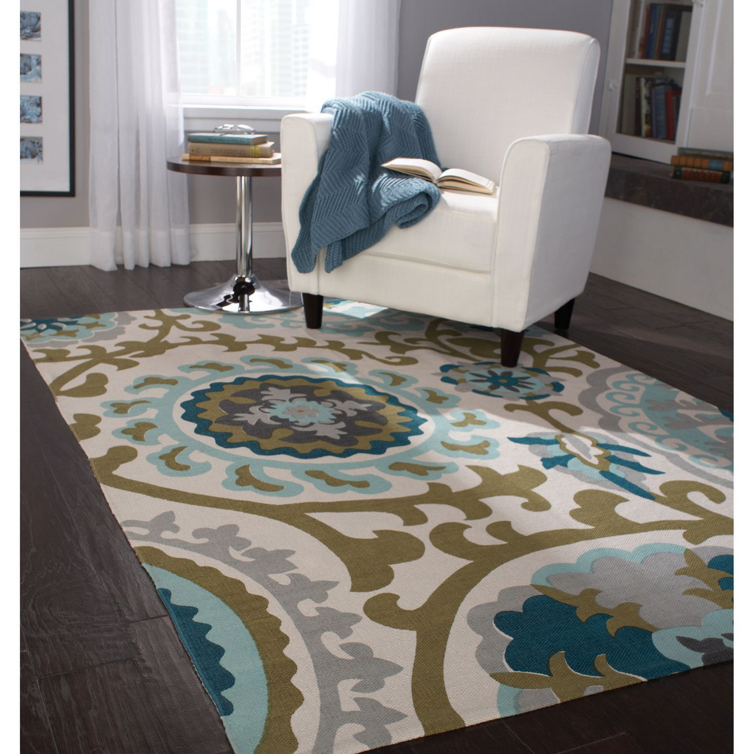 Home Trends Area Rug 4 Ft 11 In X 6 9 Blue Green Where To