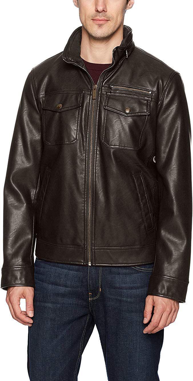 Dockers Men's Faux Leather Classic Trucker Jacket Review