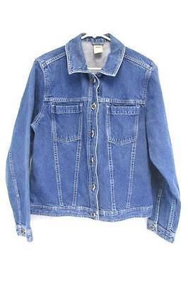 13.86$  Watch now - http://vindl.justgood.pw/vig/item.php?t=fv3r6fw54300 - High Sierra Medium Wash Denim Jean Button Up Jacket Women's Large 13.86$