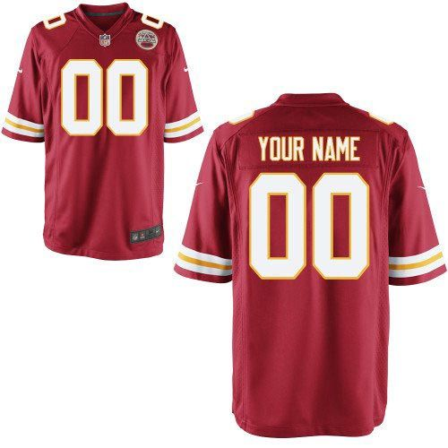youth nike nfl custom kansas city chiefs limited red team color jerseys