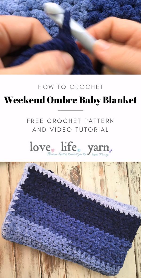 Photo of Weekend Ombre Baby Blanket – Free Crochet Pattern