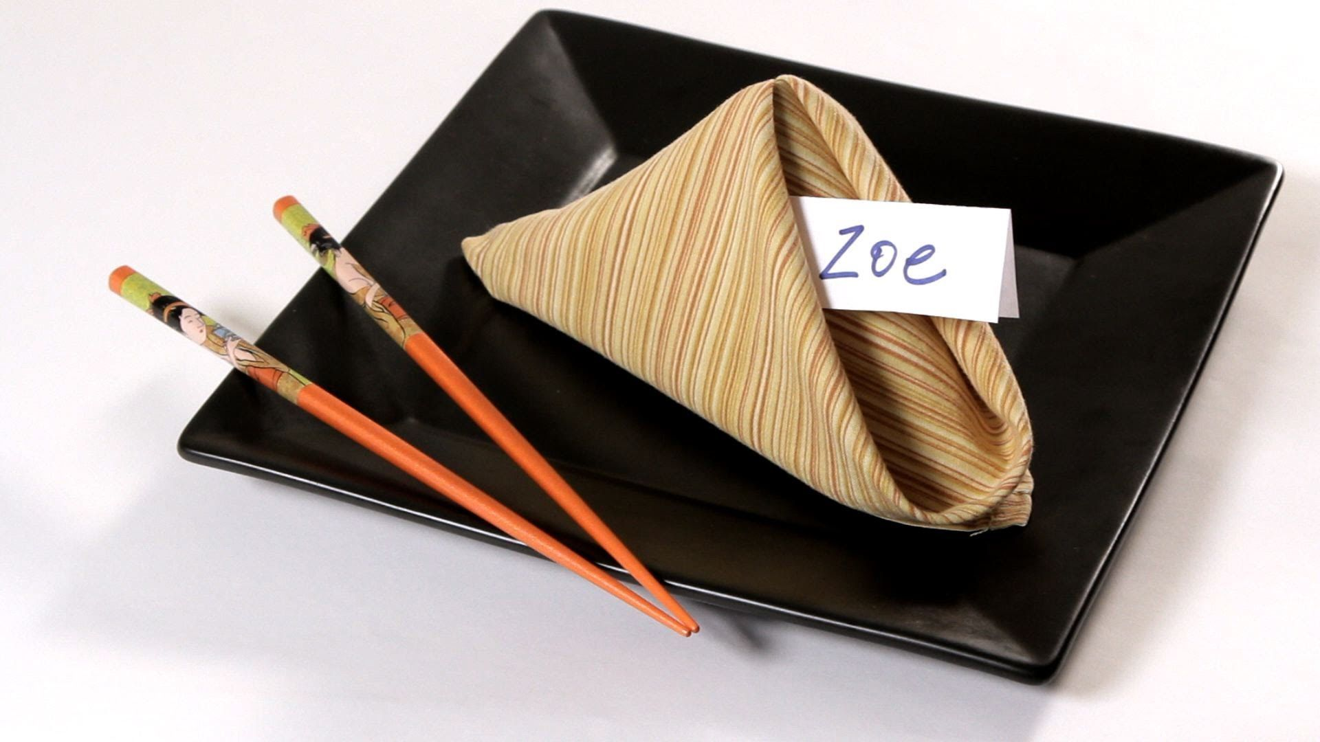 How to Fold a Napkin into a Fortune Cookie | Napkin Folding