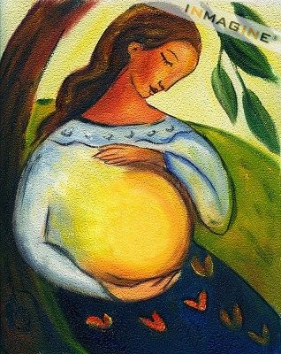 Painting Of Pregnant Woman