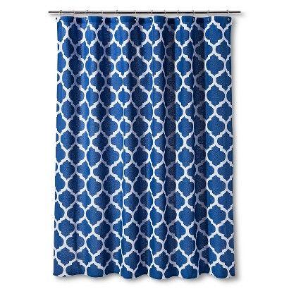 dark blue shower curtain. Shower Curtain Dark Blue Space Dye Lattice  Threshold April Sky