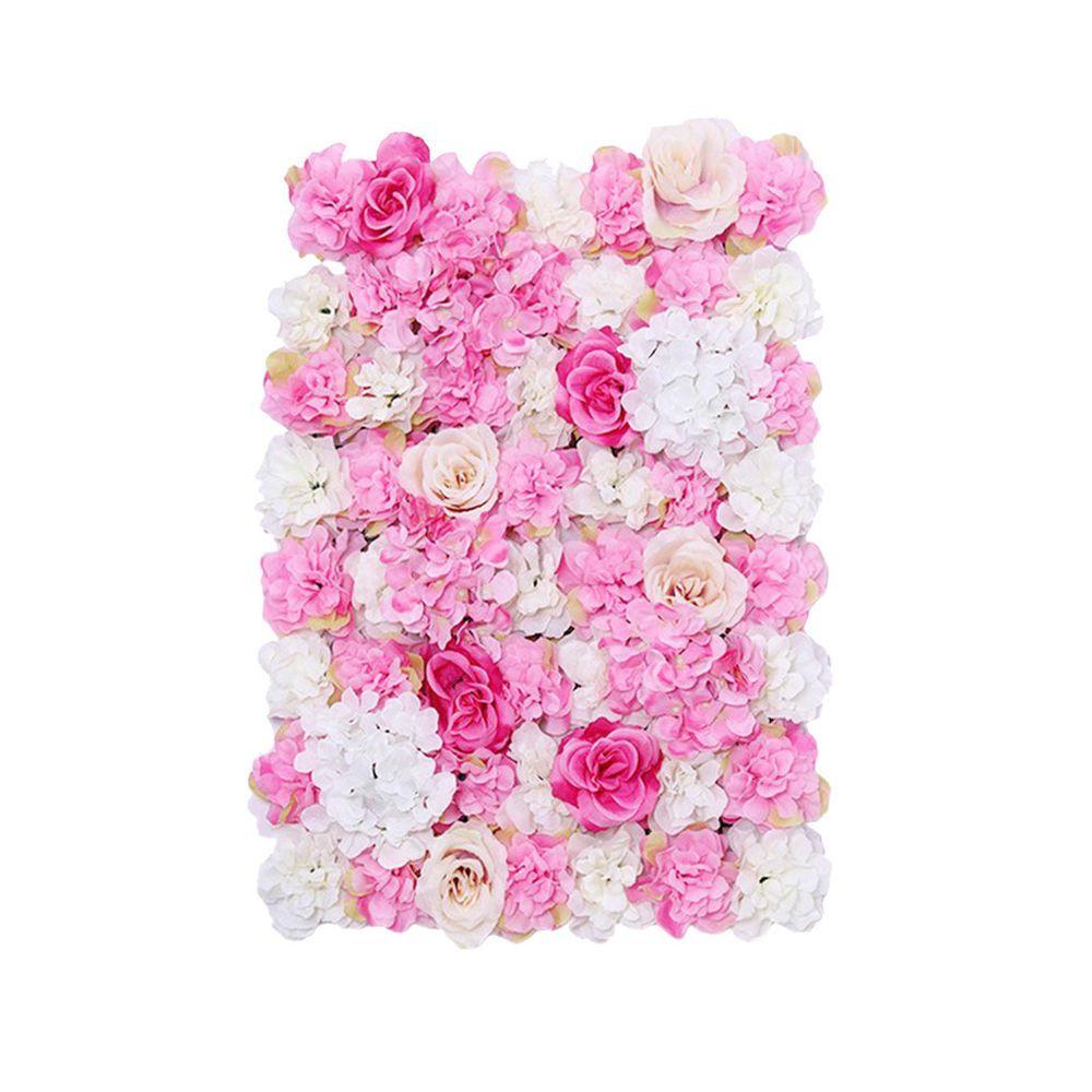 10pcs Pack Artificial Flower Wall Panels Wedding Venue Decor Hot Pink Flower Wall Wedding Flower Wall Artificial Silk Flowers