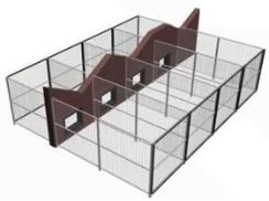 Dog Kennel Design Ideas commercial dog kennel designs dog boarding kennel designs Inside And Outside Kennel Runs Dog Kennel Designskennel Ideasoutdoor