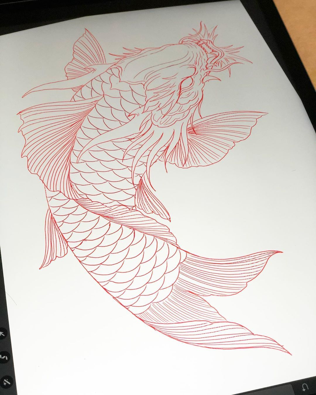 Instagram의 Derek Nghia Chung님 Koi Dragon Sketch Tattoo Tattoos Ink Inked Inkedup Tattooed Tatt In 2020 Dragon Koi Tattoo Design Koi Dragon Koi Dragon Tattoo
