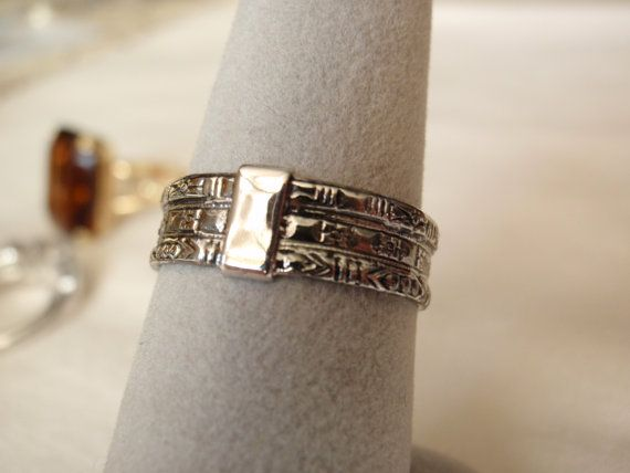 Vintage Avon Silver Tone Ornate Band by cutterstone on Etsy, $5.00