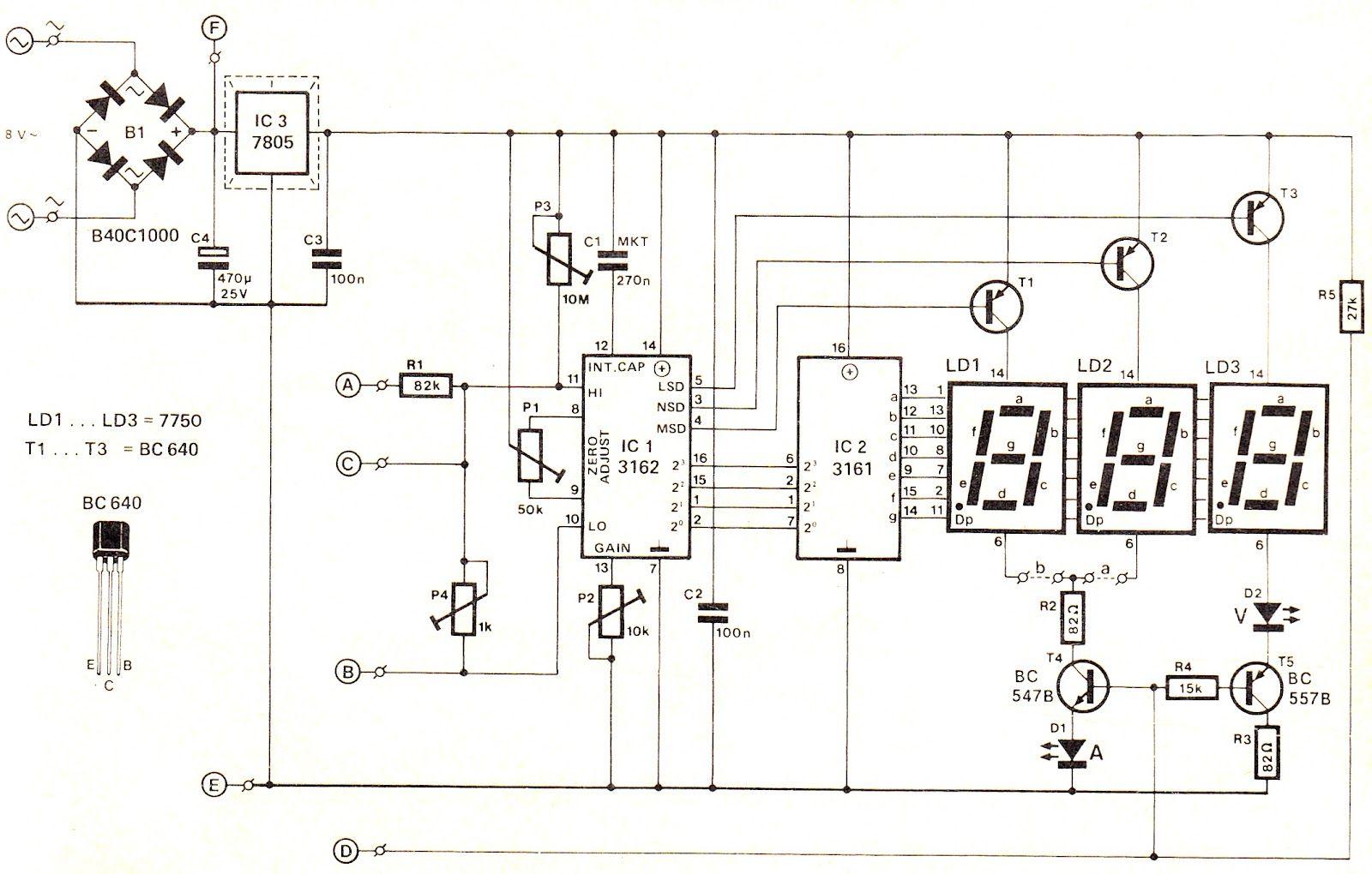 K T Qu Hinh Nh Cho Digital Voltmeter Circuit