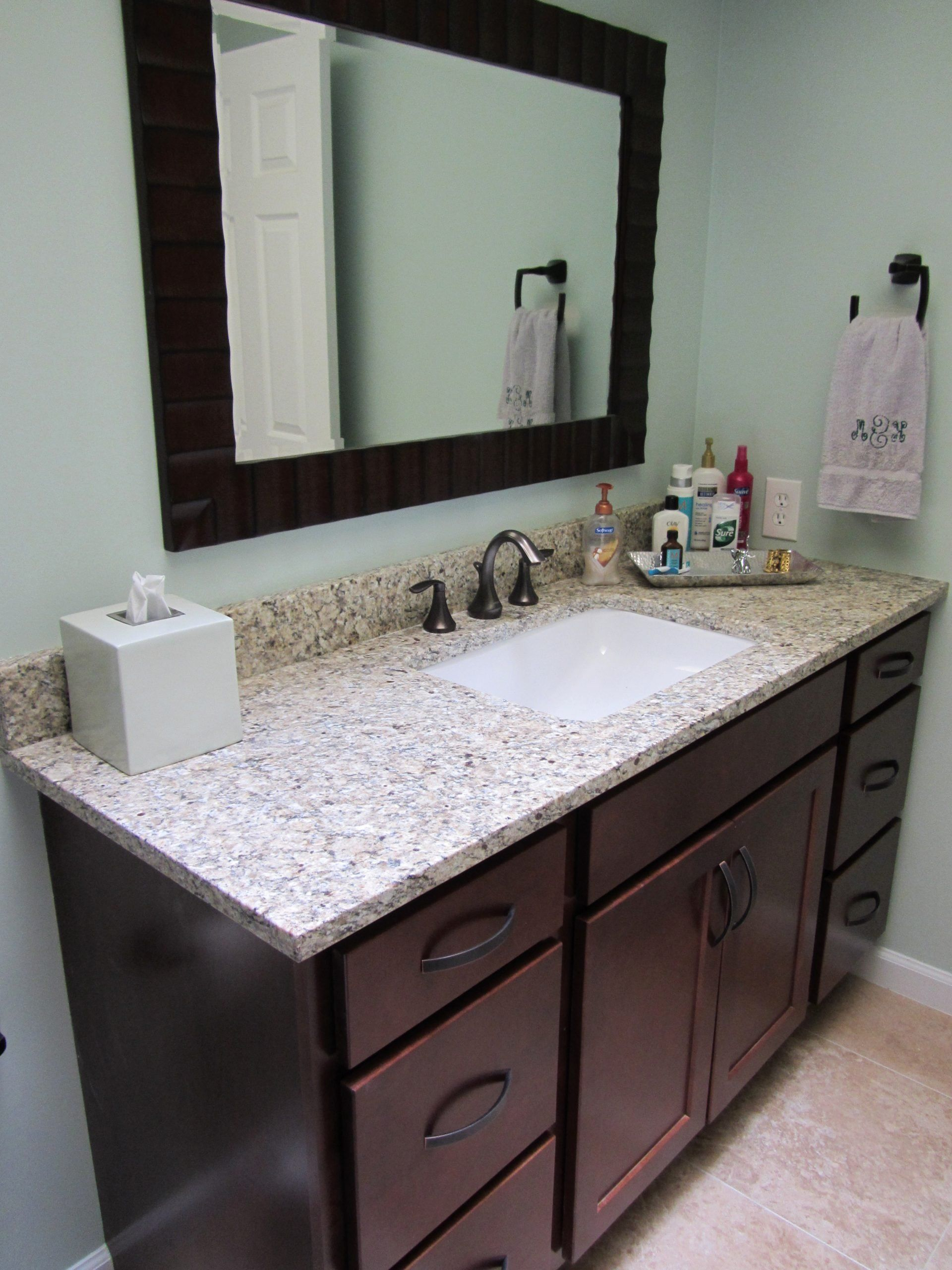 Bathroom vanities with granite countertops awesome update