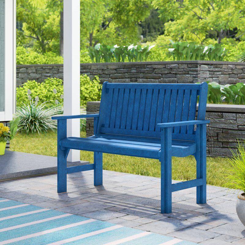 Alanna Plastic Garden Bench In 2020 Plastic Garden Bench Garden