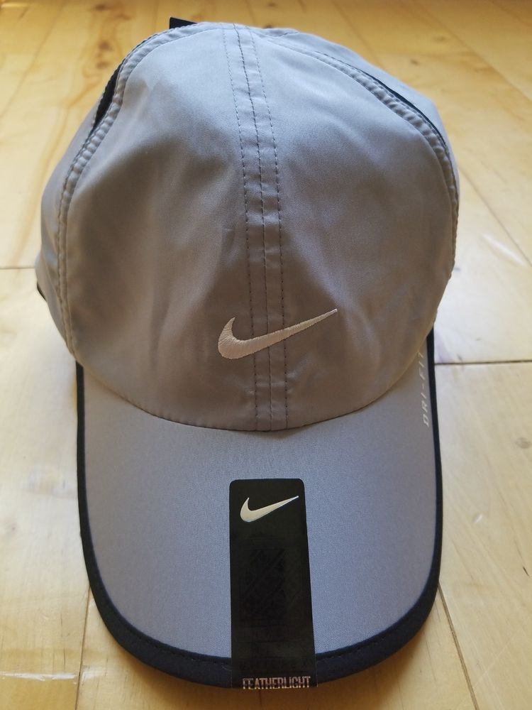 993793e182b8b NEW NIKE DRI-FIT FEATHER LIGHT TENNIS HAT GRAY UNISEX ADULT RUNNING CAP   fashion  clothing  shoes  accessories  unisexclothingshoesaccs   unisexaccessories ...
