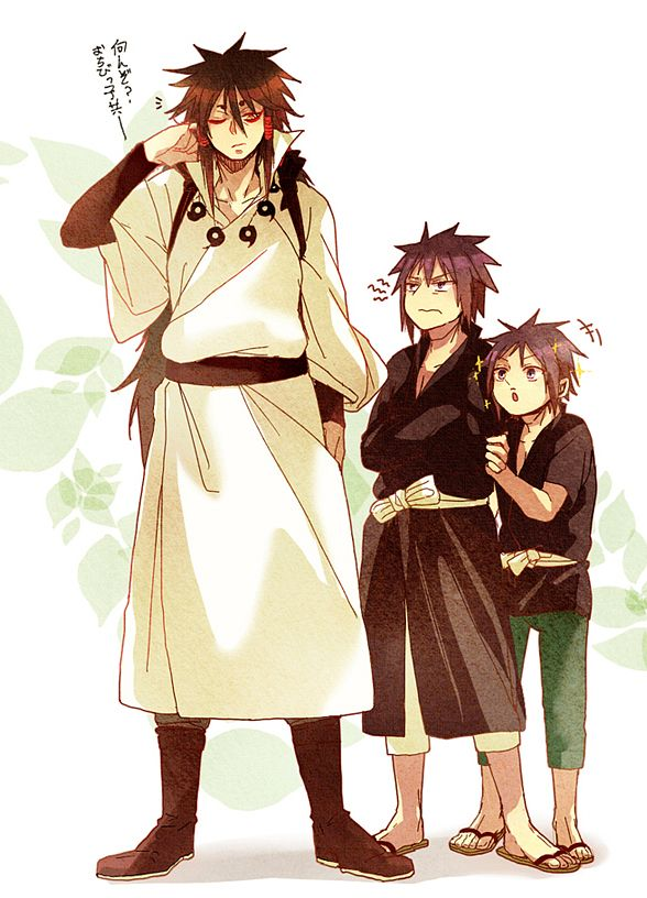 Jiyo, NARUTO, Otsutsuki Indra, Uchiha Izuna, Uchiha Madara