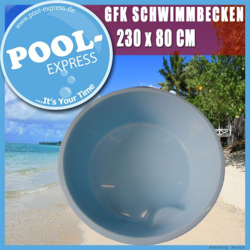 mini pool 2 3 x 0 8 m spa komplett rundpool tauchpool aus gfk schwimmbecken ebay badestamp. Black Bedroom Furniture Sets. Home Design Ideas