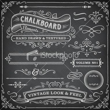 Chalkboard Frames and Banners Royalty Free Stock Vector Art ...