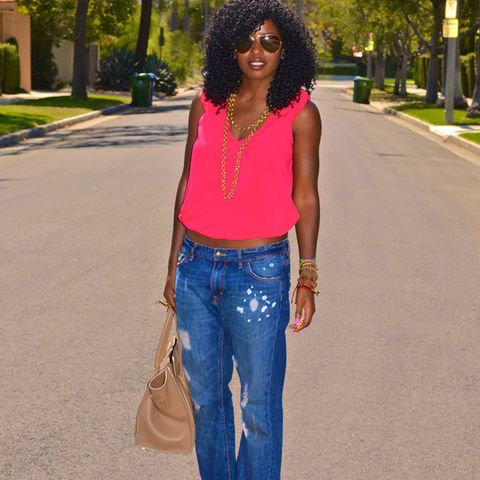 Natural Hair Pose By Stylepantry Style Boyfriend Jeans My Style