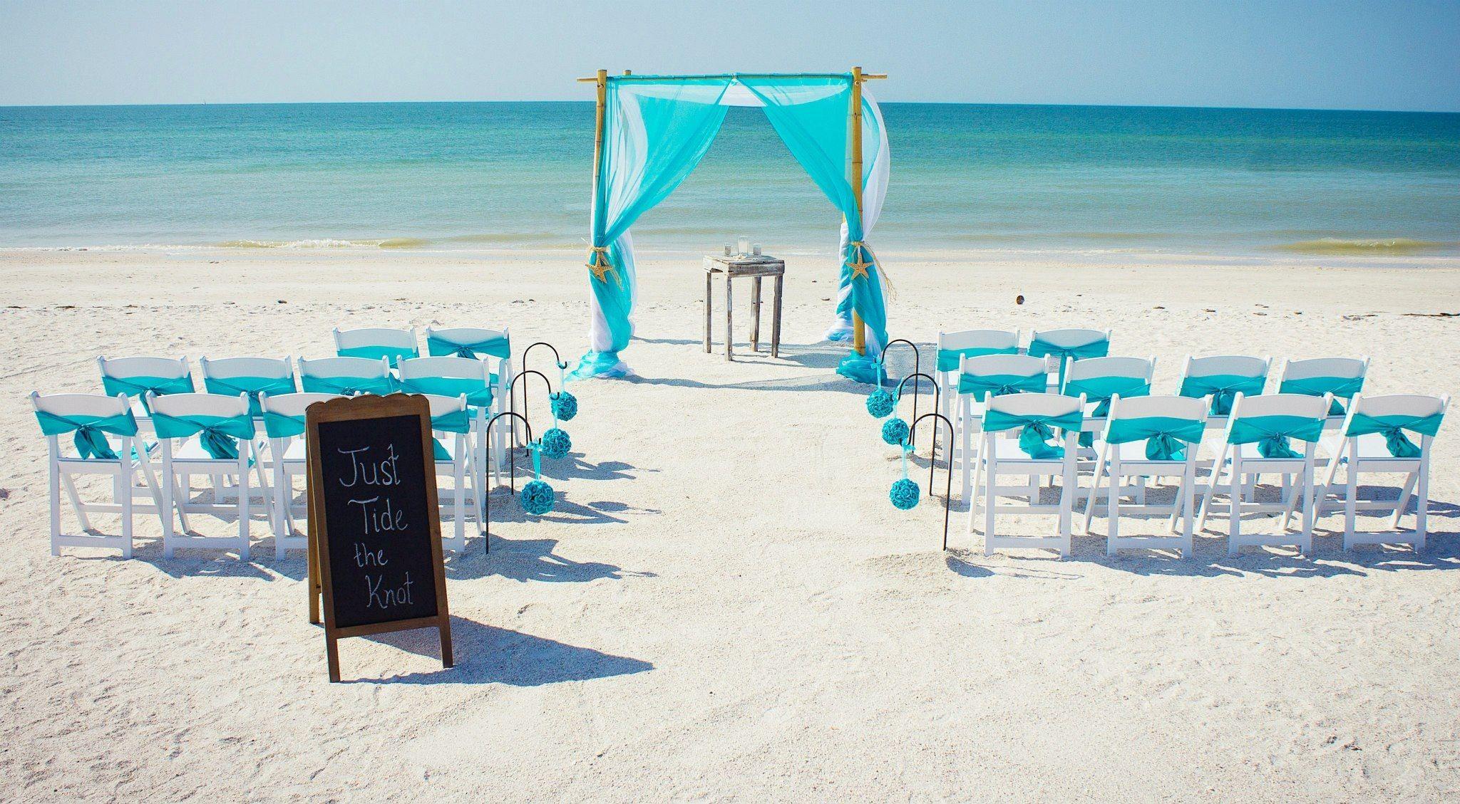 Aqua Beach Wedding Of My Dreams Small Beach Weddings Blue