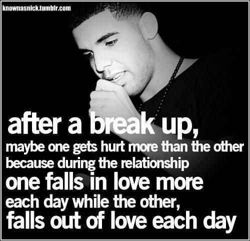 Brake Quotes Amazing After A Brake Up  Drake ❤  Pinterest  Relationships Wise