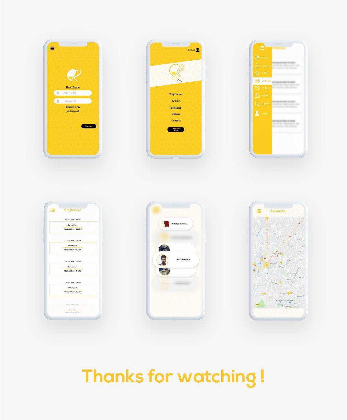 Humour Festival App On Behance Mobile App Design Inspiration Android App Design Mobile Web Design