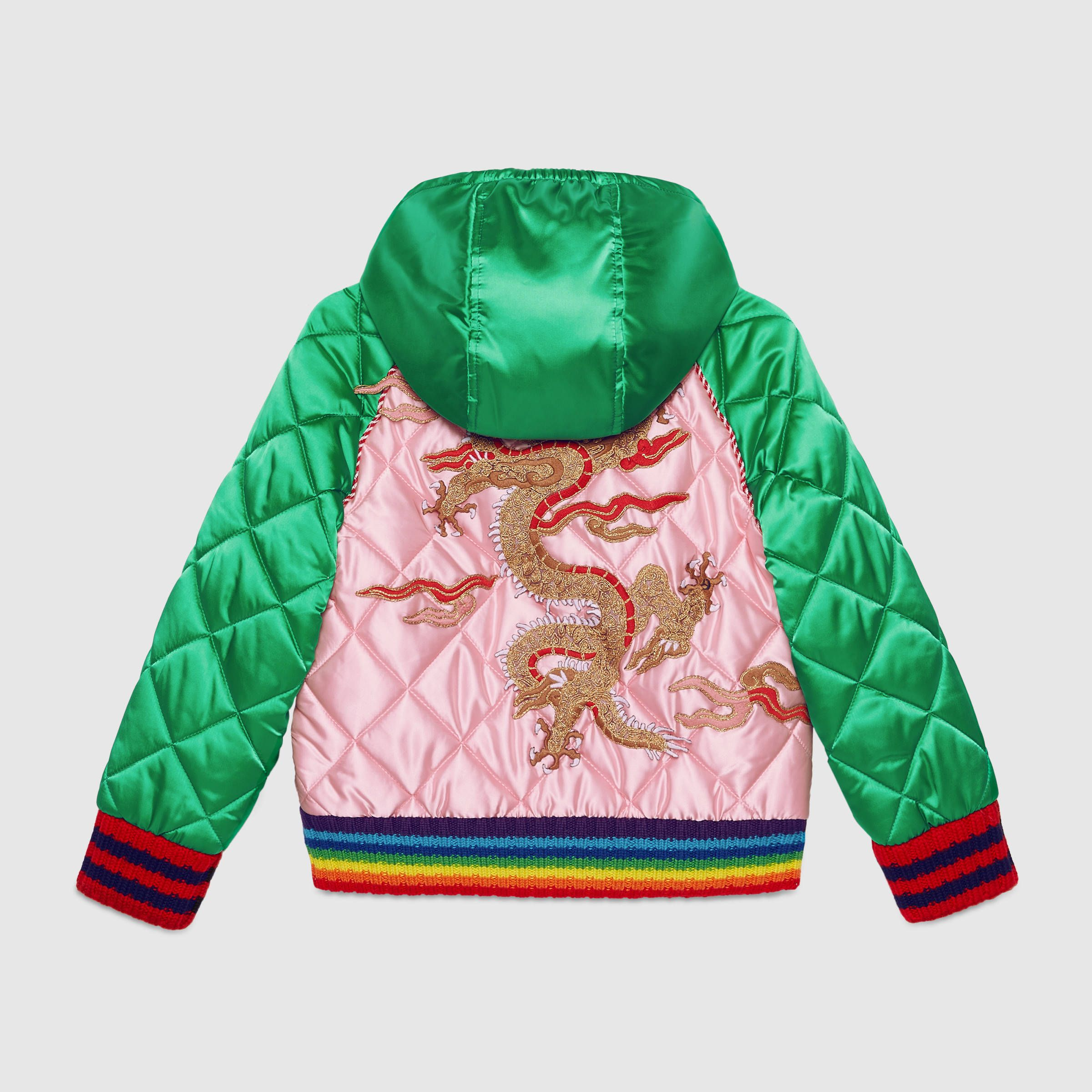 d84f8f924f79d Gucci Children s satin bomber jacket with dragon