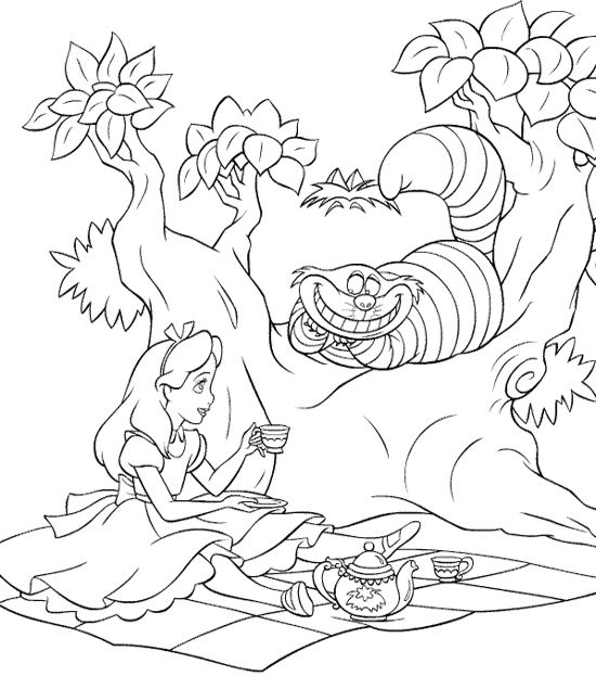 Alice In Wonderland Was Breakfast In The Jungle Coloring Page ...