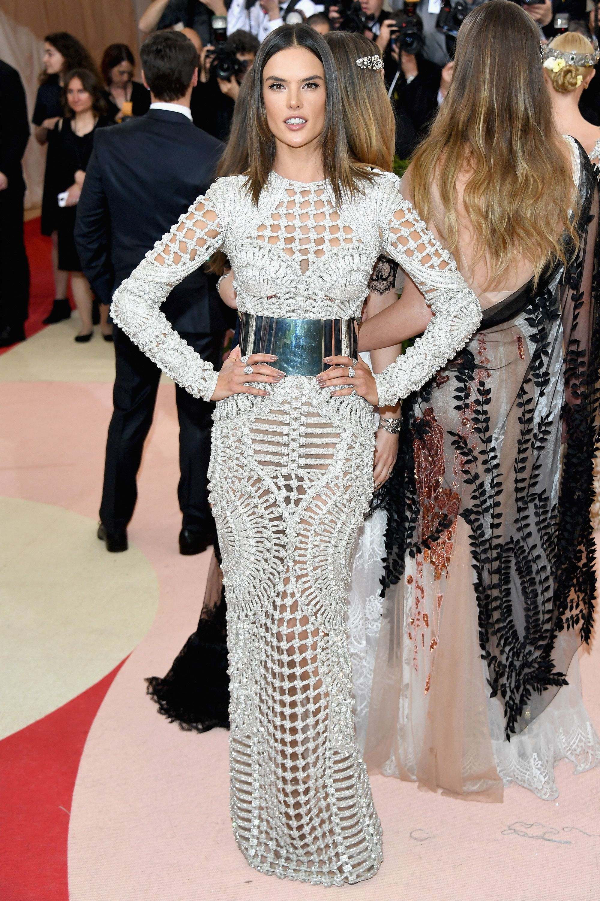 545ab0f393 Alessandra Ambrosio at the 2016 Met Gala in Balmain