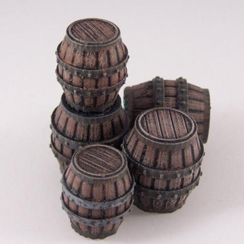 Download on https://cults3d.com #3Dprinting 3D Delving Decor: Medieval Barrels, Dutchmogul