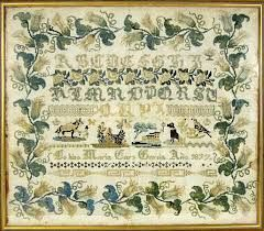 A 19th Century Spanish Sampler Stitched By Maria Cars Garcia Dated 1877 ~ Lyon & Turnbull
