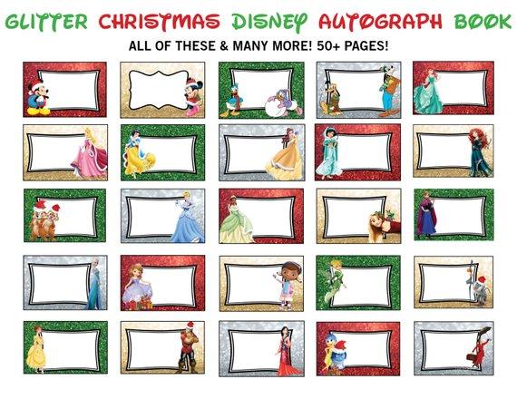 It's just an image of Printable Disney Autograph Book regarding rare character disney