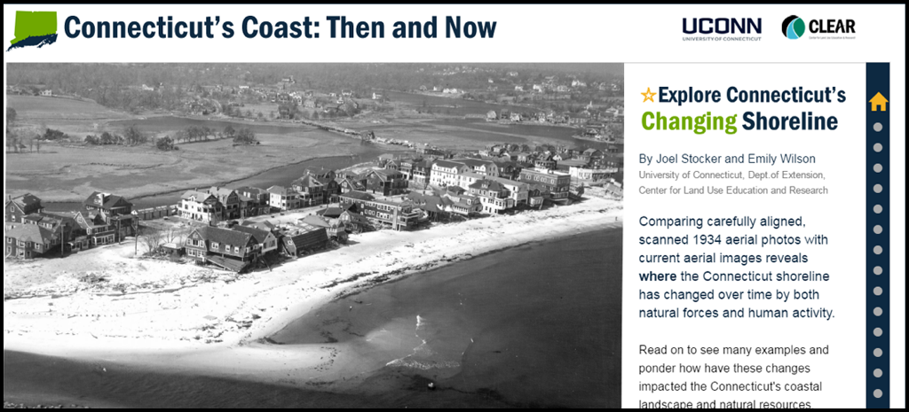 Story Map The Connecticuts Coast Then And Now Story Map Guides - Current aerial maps